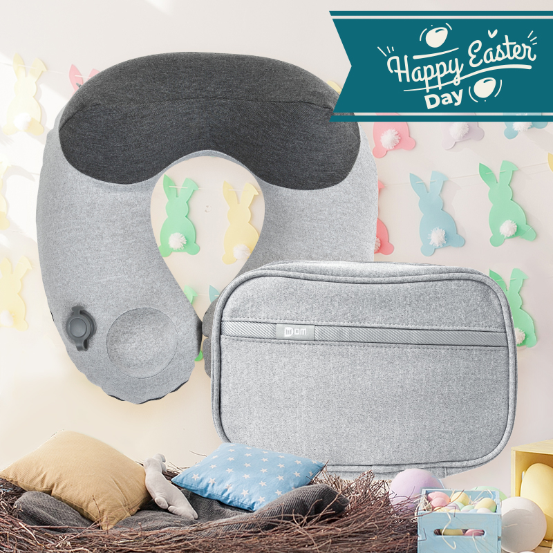 Travel Set (Comfy Travel Pillow + Multi-function Travel Pouch )